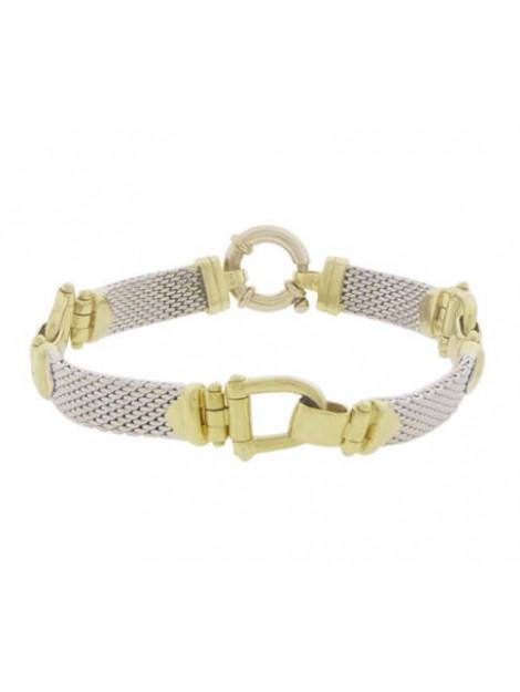 Christian Bicolor gouden flexibele armband 902C377-0604JC large