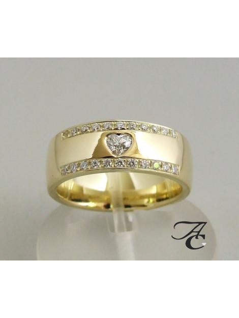 Atelier Christian 14 karaat harten ring met diamanten 343D5-7868AC large