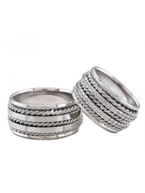 Christian Trouwringen met dubbele rij diamanten 329R32-3923L large