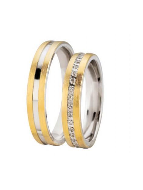 Christian Bicolor diamanten glanzende trouwringen 908E733-4022L large