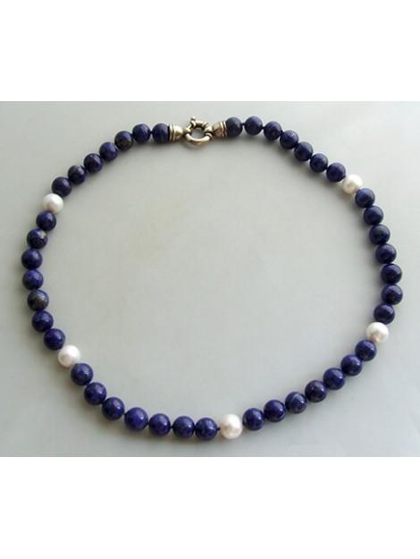Christian Collier met parels en lapis lazuli 2897E22-2608JC large