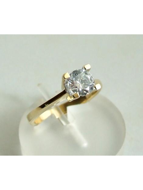 Christian Gouden ring met centrale zirkonia steen 8Y283-8643JC large