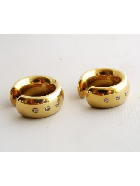 Christian Gouden oorbellen met diamant 092M38-3497JC large