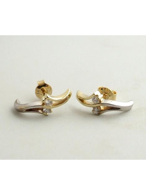 Christian Bicolor gouden oorbellen met diamant 23897S32-1717JC large