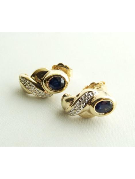 Christian Gouden saffieren oorbellen met diamanten 9308V53-0867JC large