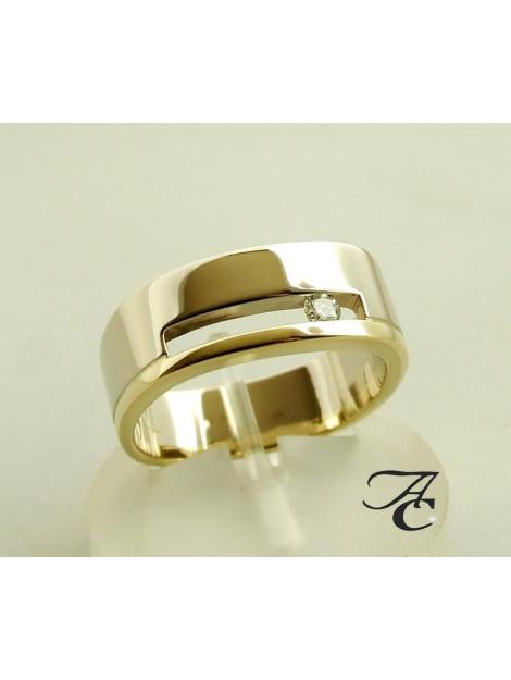 Atelier Christian Gouden ring met briljant 73U278-0400AC large