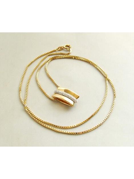 Christian Gouden collier en hanger met diamanten 387C327-3259JC large