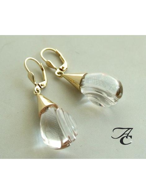 Atelier Christian Gouden bergkristal oorbellen 323L783-7901AC large