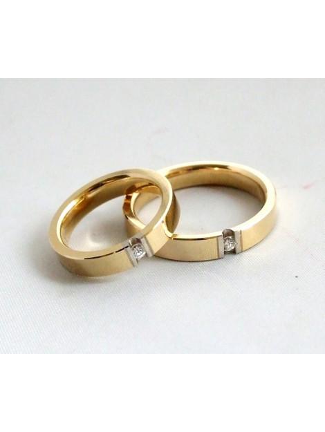 Christian Gouden trouwringen met diamanten 2C38U3-304JC large
