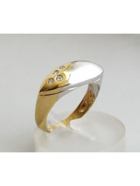 Christian Geel- en ring met diamant 3G8V93-6927JC large