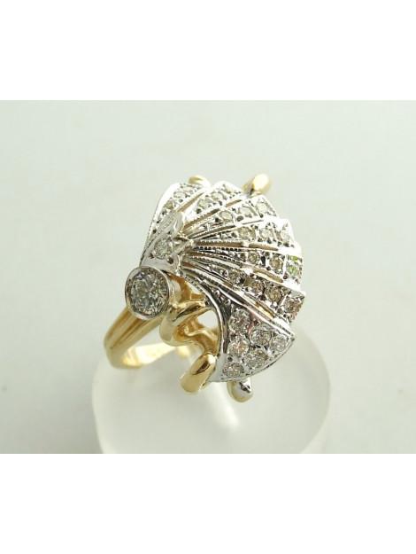 Christian 18 karaat gouden ring met diamanten  large