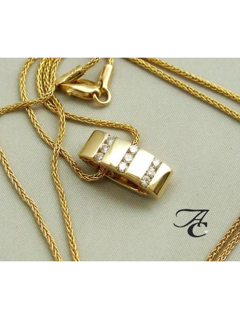 Atelier Christian Collier en hanger met diamanten 78L0393-3966AC large