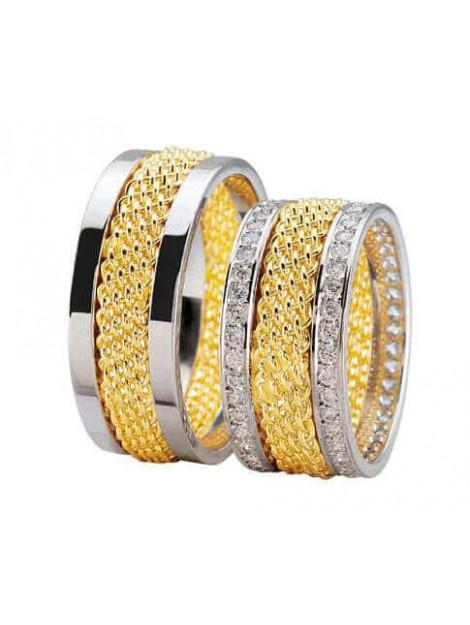 Christian Bicolor diamanten trouwringen 3845L large
