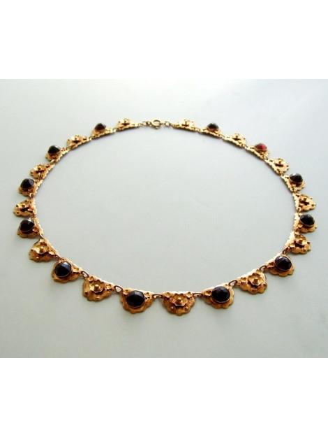 Christian Rosé gouden collier met granaat 9616OCC large
