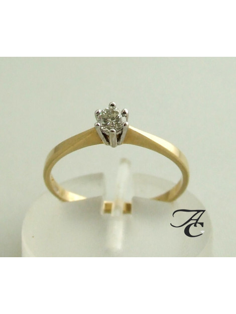 Atelier Christian 14 karaat gouden ring met diamant in klauwzetting 456E33-8938AC large