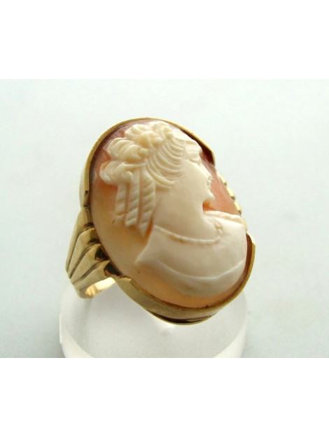 Christian Gouden camee ring geel goud 9X32D3-0021OCC large