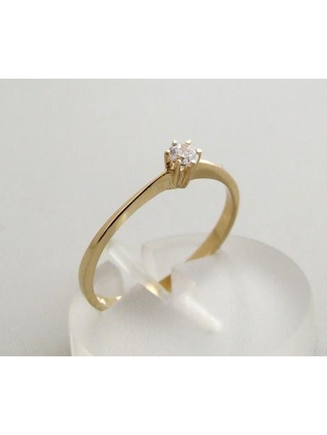 Christian Zespoots gouden ring met zirkonia geel goud 0F39D3-4753JC large