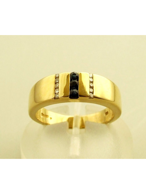Christian Ring met saffier en diamanten geel goud 9732F32-5005OCC large