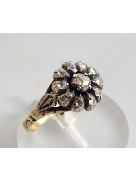 Christian Ring met roosdiamant geel goud 897K23-5095OCC large