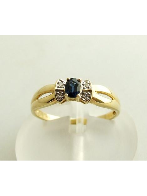 Christian Gouden saffieren ring met diamanten geel goud 902F38-8778JC large