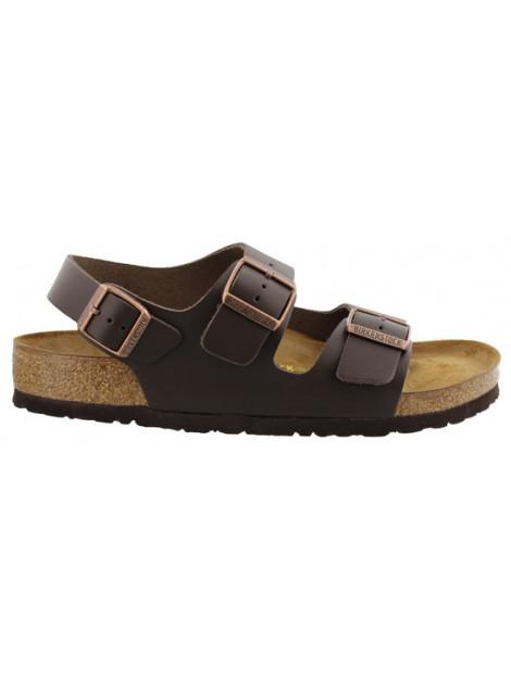 Birkenstock Milano dark brown leather narrow 034103 large