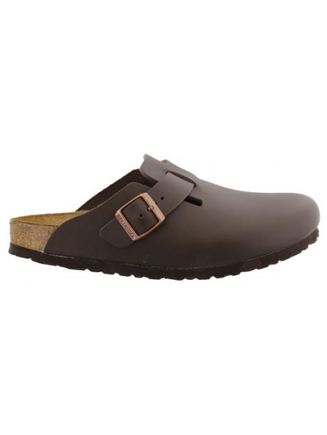 Birkenstock Boston dark brown leather regular 060101 large