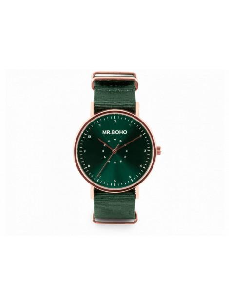Mr.BOHO Horloge 40mm copper green casual metallic 21-61-cp10 large