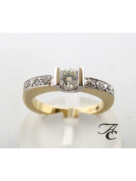 Atelier Christian Gouden briljant geslepen diamanten ring wit goud 829D37-1855AC large