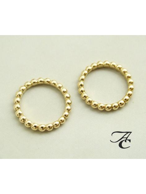 Atelier Christian Bolletjes ring geel goud 3956AC large