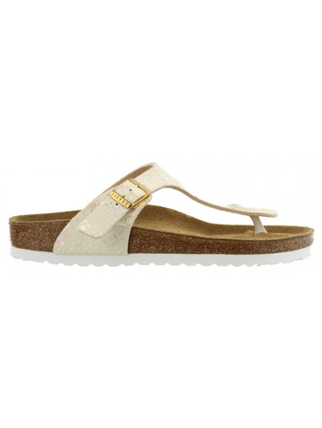 Birkenstock Gizeh shiny snake cream narrow 847433 large