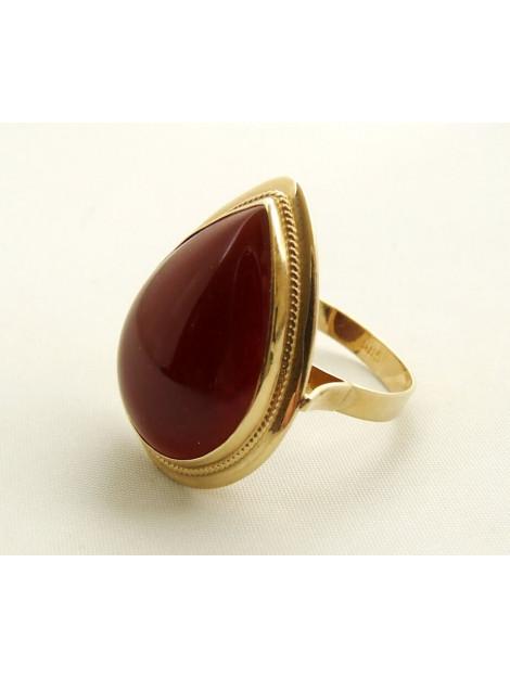 Christian Gouden agaat ring geel goud 4354C32-1154CC-1 large