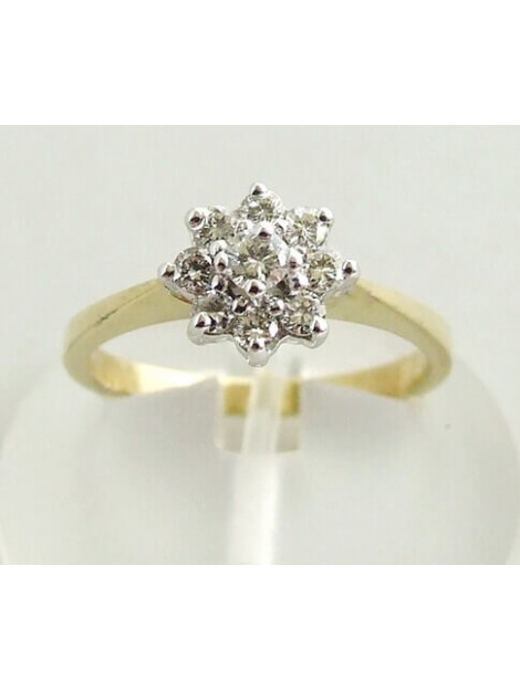 Christian Stervormige diamanten ring geel goud 923P83-2176JC large