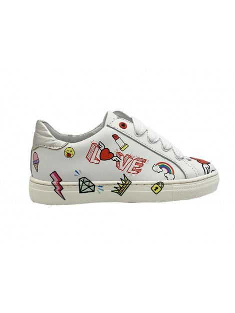 Develab Veterschoenen fantasy print sneaker wit 41658-129 large
