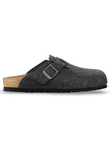 Birkenstock Boston antracite wool regular 160371 large