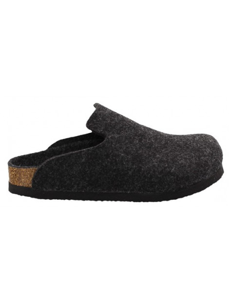 Birkenstock Davos anthracite wool narrow grijs 142023 large