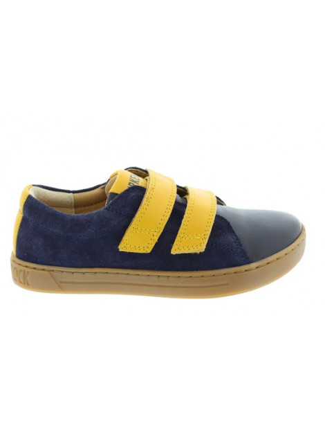 Birkenstock Arran navy-yellow regular natural leather blauw 1011968 large