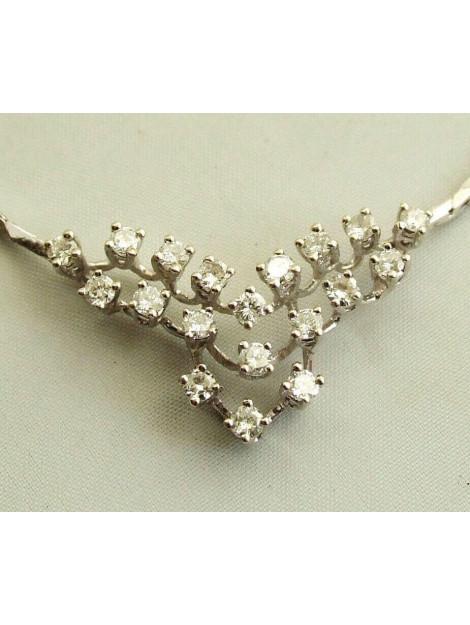 Christian 18 karaat wit gouden collier met briljanten 54R3E-0223OCC large