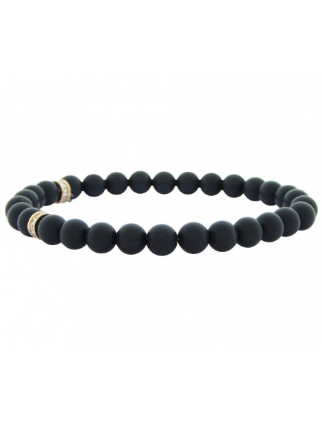 Christian Hematite beads bracelet 102P823-393JC large