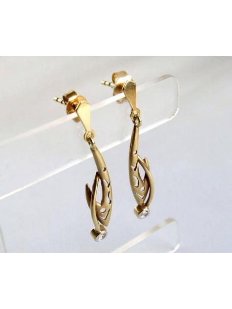 Christian Gouden oorbellen met zirkonia 234D57-0508JC large