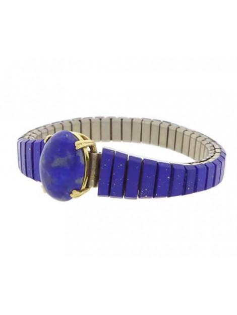 Christian Stalen en gouden armband met lapis lazuli 3298-1827OCC large
