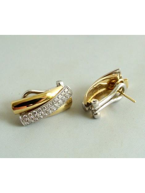 Christian 18 karaat gouden oorbellen met diamant 23E873-7812OCC large