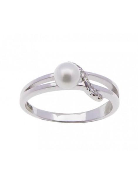 Christian Diamanten en parel ring 89C43-1871JC large