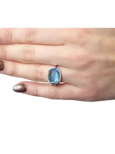 Christian Gouden ring met topaas en diamant 987Y82-3488JC large