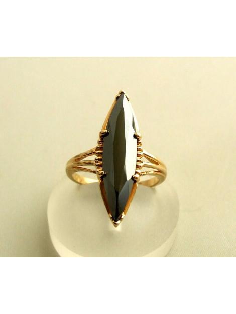 Christian 14 karaat gouden ring met hematiet geel goud 010C382-9113JC large