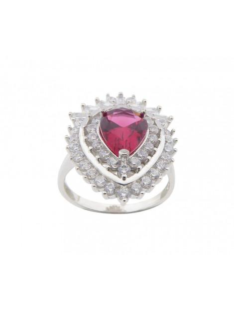 Christian Zilveren zirkonia ring met synthetische robijn 1043P23-0613JC large