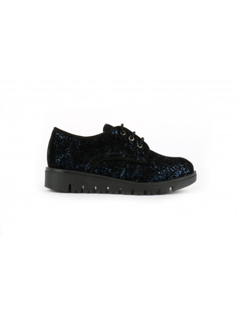 Unisa Jr one veterschoenen glitter blauw Unisa jr-One-blauw large