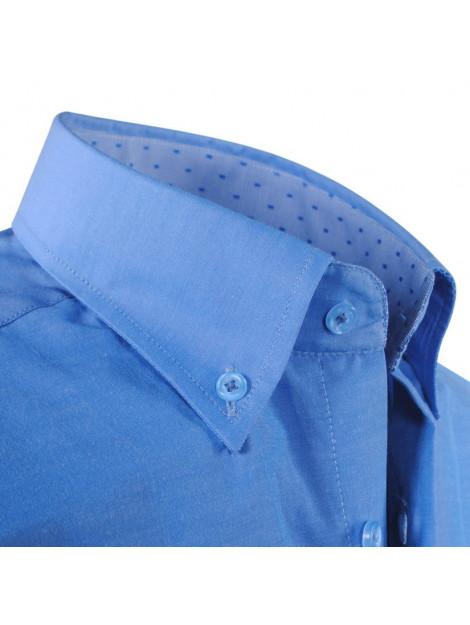 06626d80a47 Ambassador Ongetailleerd heren overhemd motief in de kraag borstzak