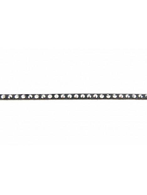 Legend Smalle stoere damesriem met zilveren studs zwart 10187/999 ZW large