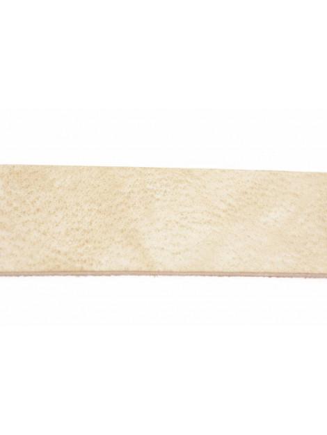 Xworks Stoere zandkleurige riem voor dames met studs wit 4186.66.27 ZD large