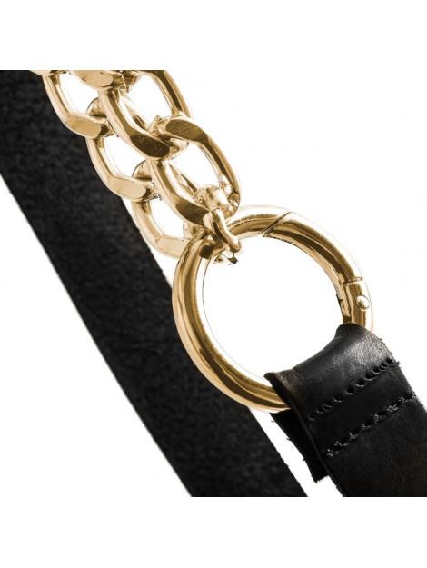 Depeche Tailleriem met ketting goud zwart DEP/DL/13454/tailleriem zwart/goud large